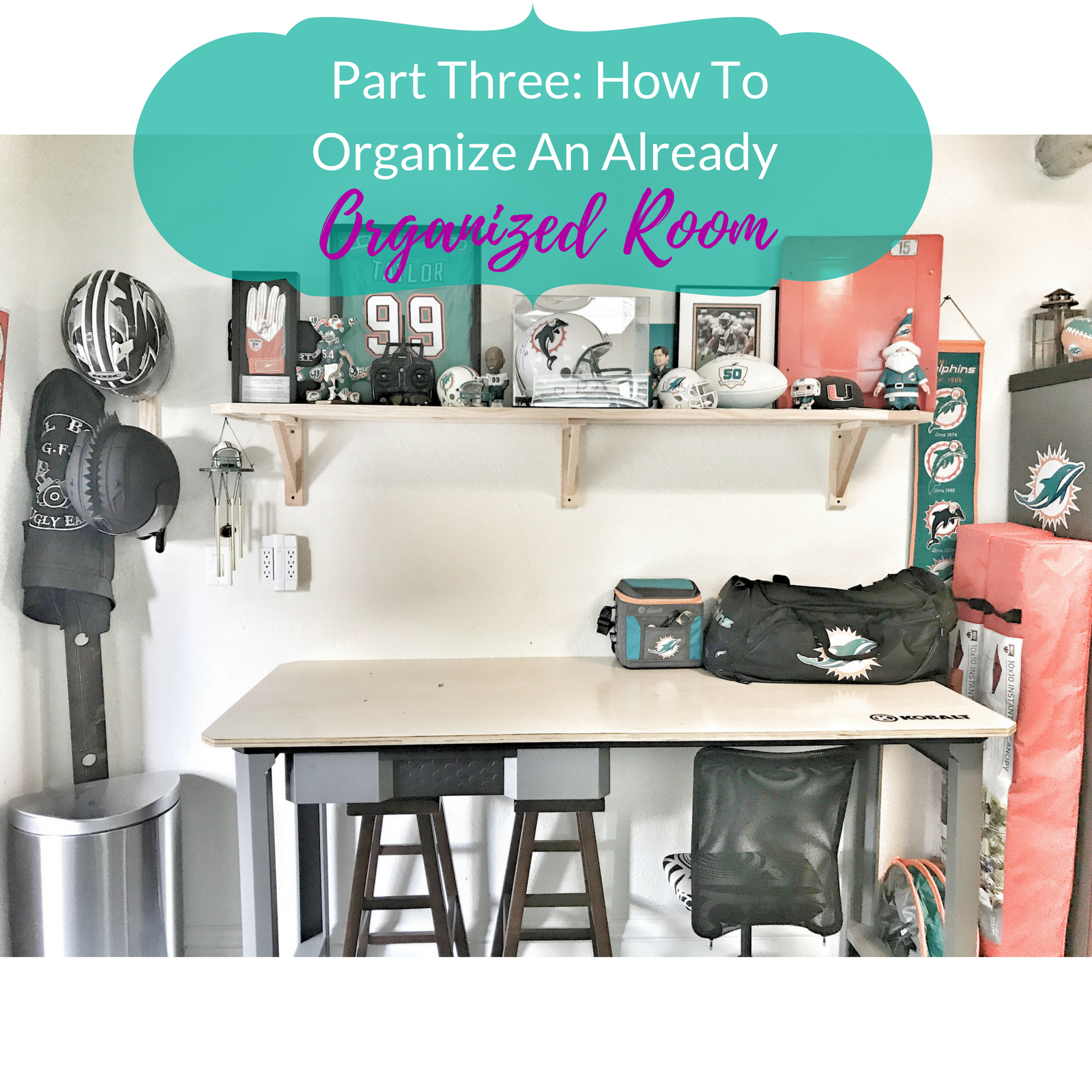 Part Three: How to Organize An Already Organized Room