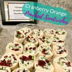 Cranberry Orange Pinwheel Sandwiches