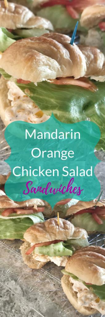 Mandarin Orange Chicken Salad Sandwiches