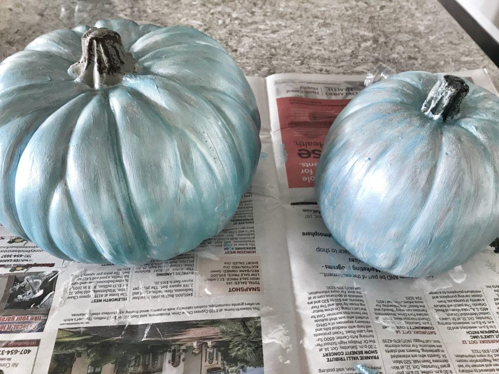 Painting Craft Pumpkins