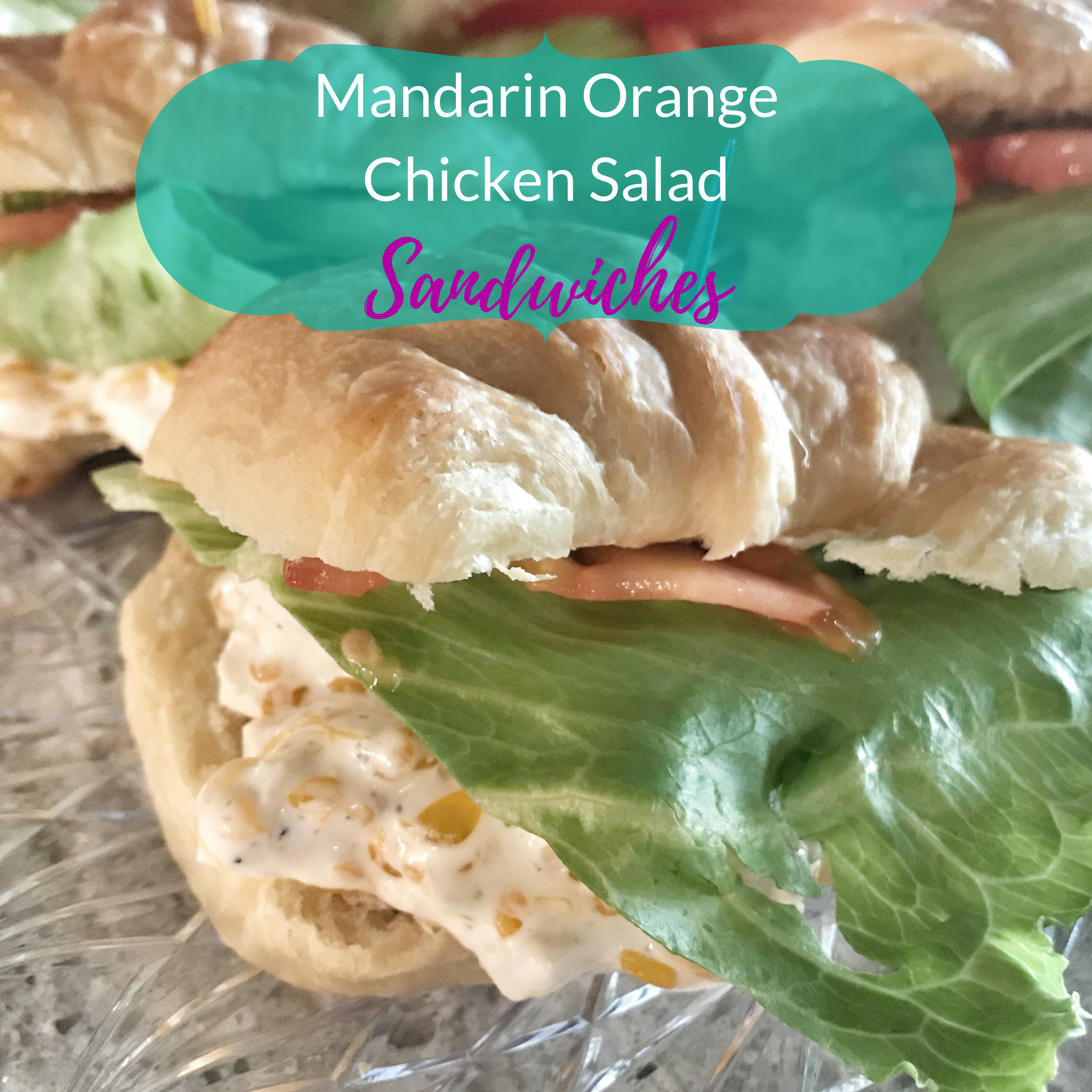 Mandarin Orange Chicken Salad Sandwiches