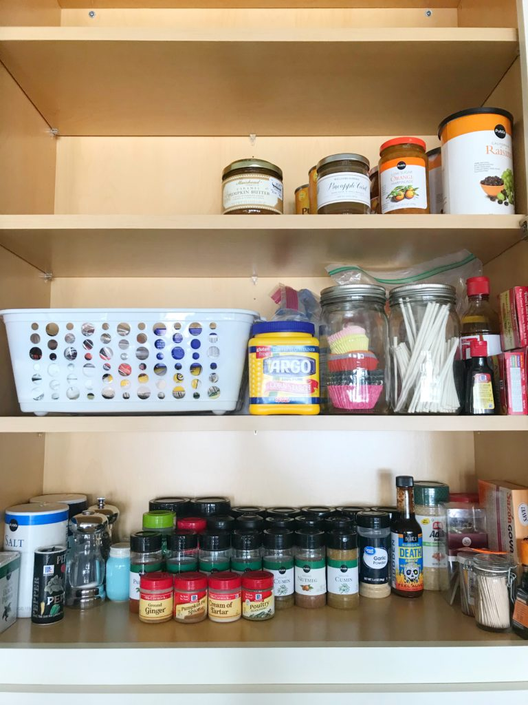 Spice and Baking Cabinet Organization