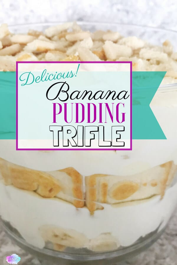 Nothing says comfort food more than this yummy Banana Pudding Trifle. This dessert is a super easy treat to share with a crowd. Bring this trifle to a party, potluck or just indulge in it all week long in your own home! #desserts #trifles #easydesserts