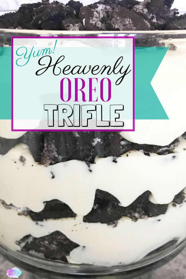 Looking for a delicious and easy dessert? This Oreo trifle is not only delicious but can be made ahead of time. Oreo cookies are the star of this crowd-pleasing dessert! #trifle #easydessert #dessert #lakelifestateofmind