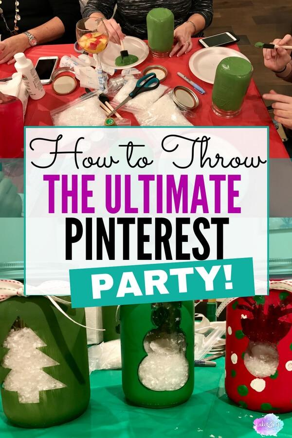 Are you guilty of Pinning a ton of craft ideas on Pinterest and never doing anything with them?! If this is you, consider throwing a Pinterest Party! Gather a group of ladies, family or friends and get to crafting. Here are my tips and tricks to hosting the perfect Pinterest Party! #Pinterest #LadiesNight #Crafts