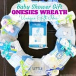 Onesies Wreath | A Unique Baby Shower Gift Idea