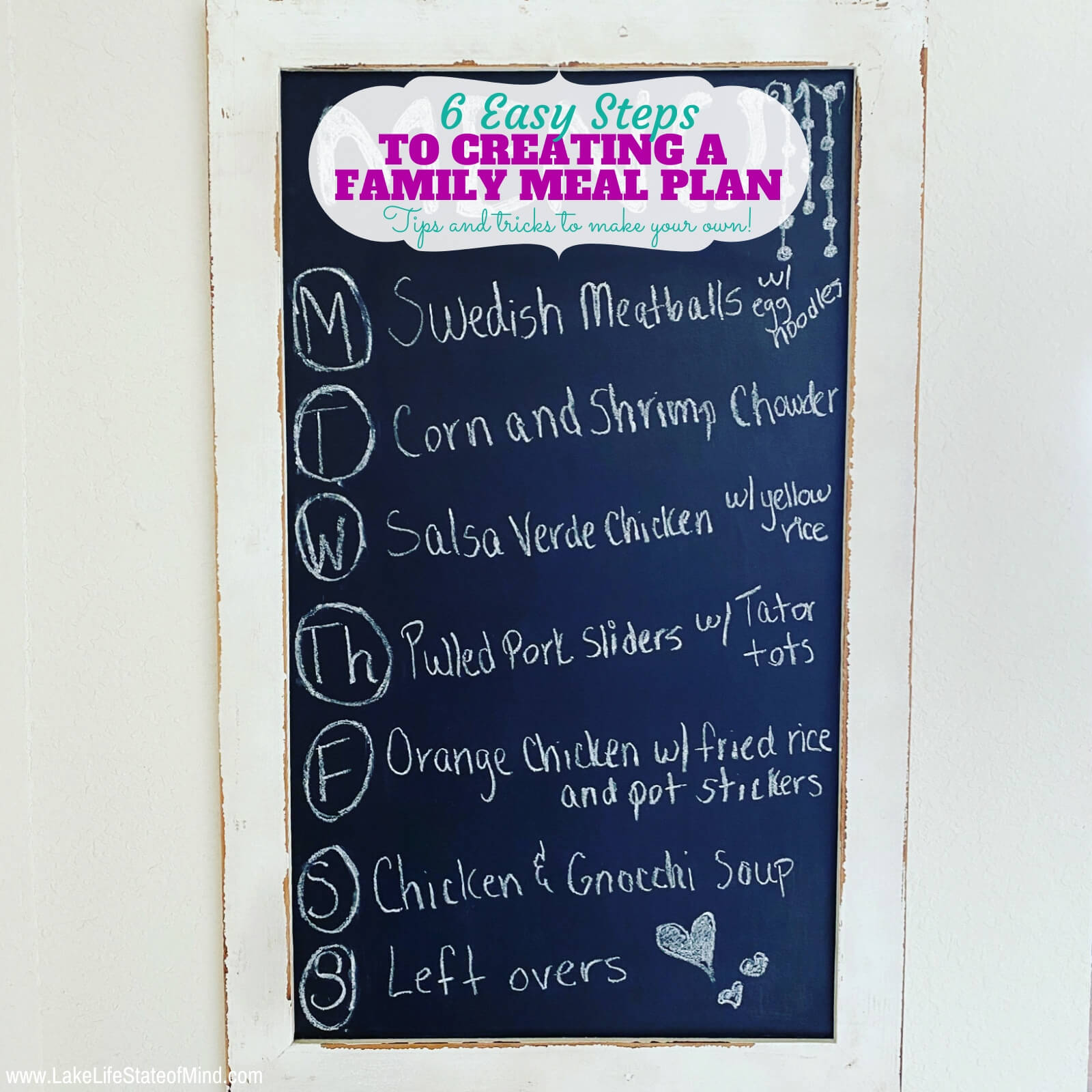 6 Easy Steps to Creating a Family Meal Plan