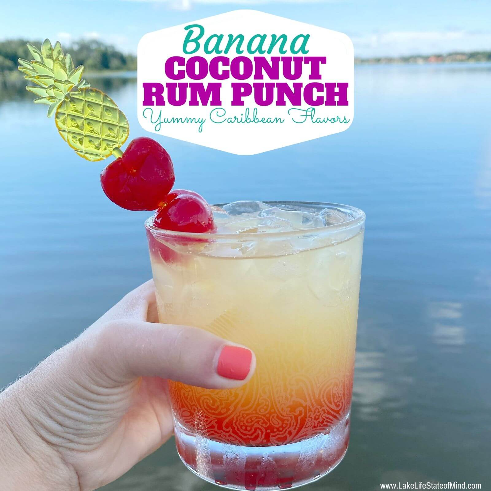 Banana Coconut Rum Punch Recipe