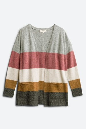 PINQUE Barras Two Pocket ColorBlock Cardigan