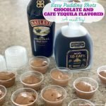 Chocolate and Cafe Tequila Pudding Shots