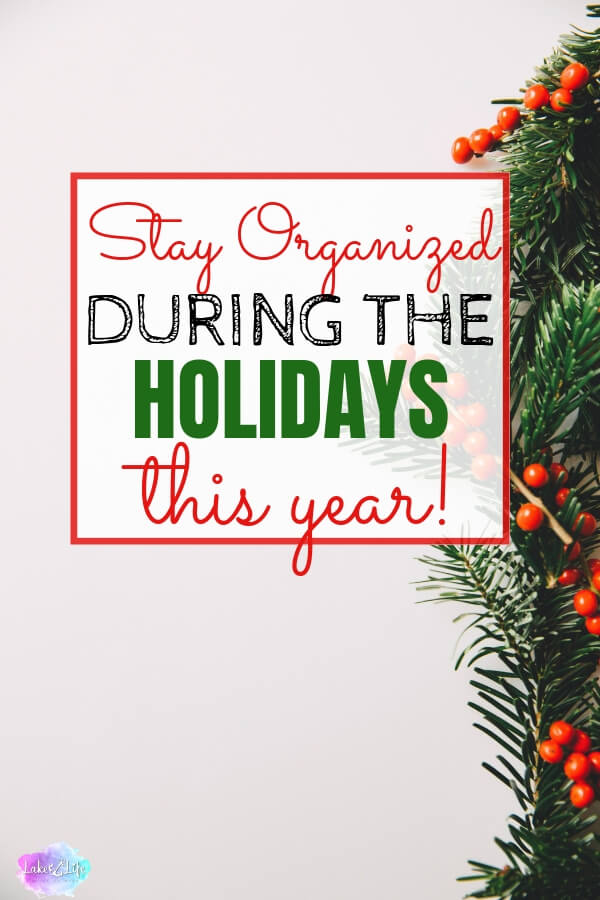 Enjoy a Free Holiday Planner for a more organized Christmas. Spend less time being stressed this holiday season and more time being Merry!