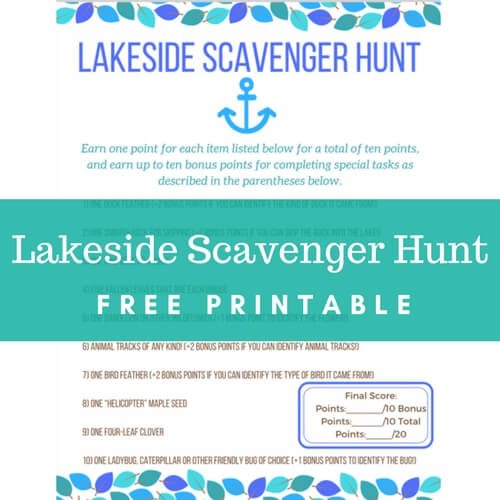 photo regarding Family Reunion Scavenger Hunt Printable identified as Entertaining and Totally free Routines for Youngsters at the Lake Place