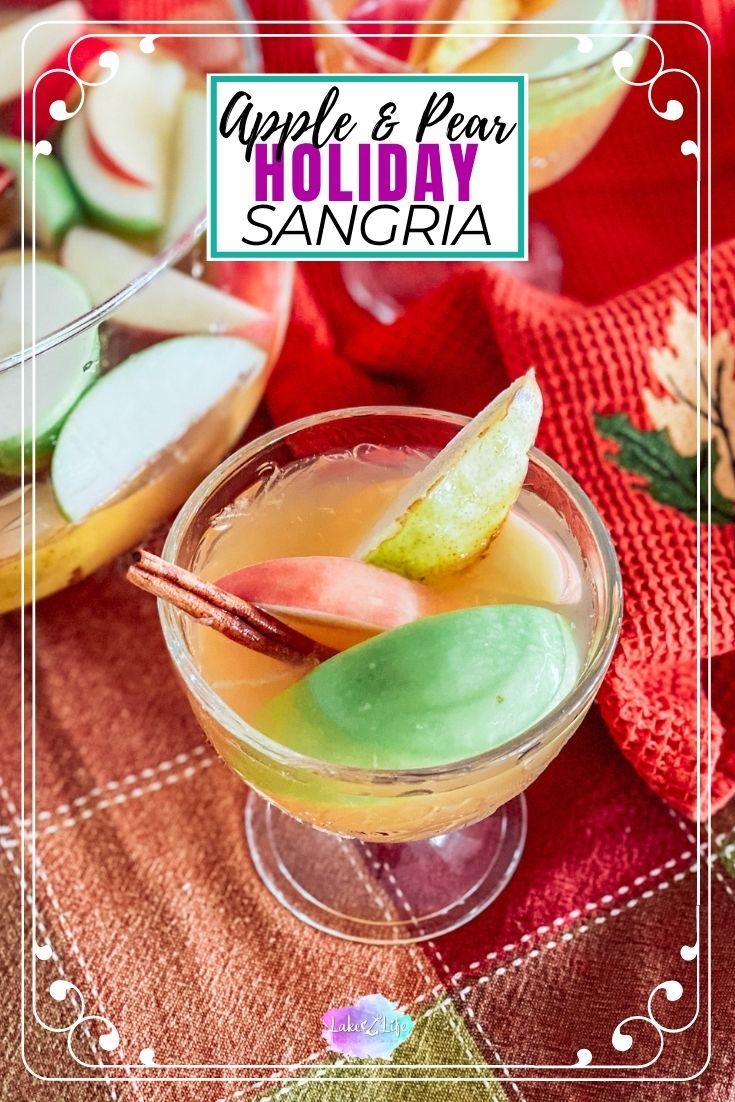 Cinnamon Apple and Pear Sangria