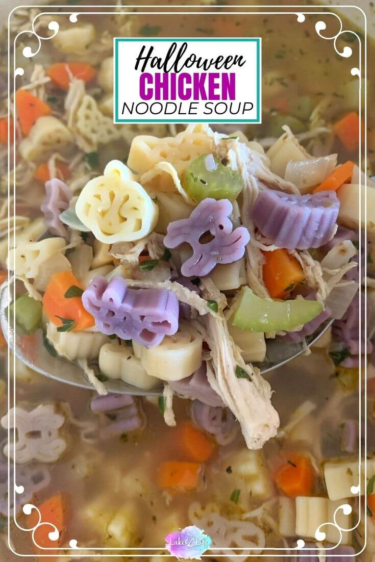 Halloween Chicken Noodle Soup