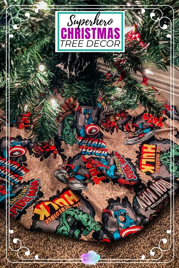 Superhero Decorated Christmas Tree