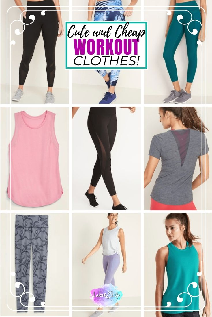 Cute and Affordable Workout Clothes for Women From Old Navy