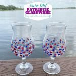 Cute DIY Patriotic Glasses