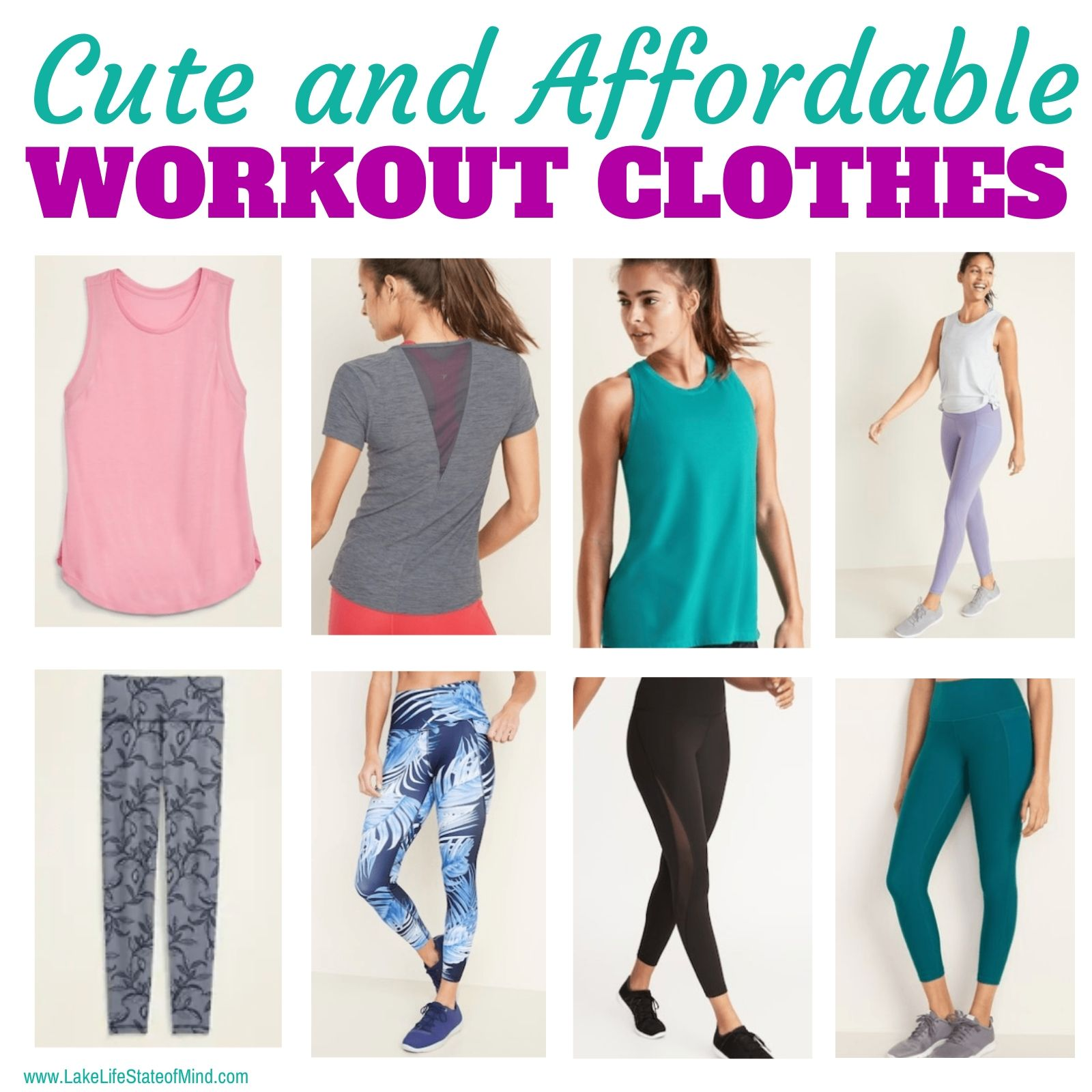 Cute and Affordable Workout Clothes