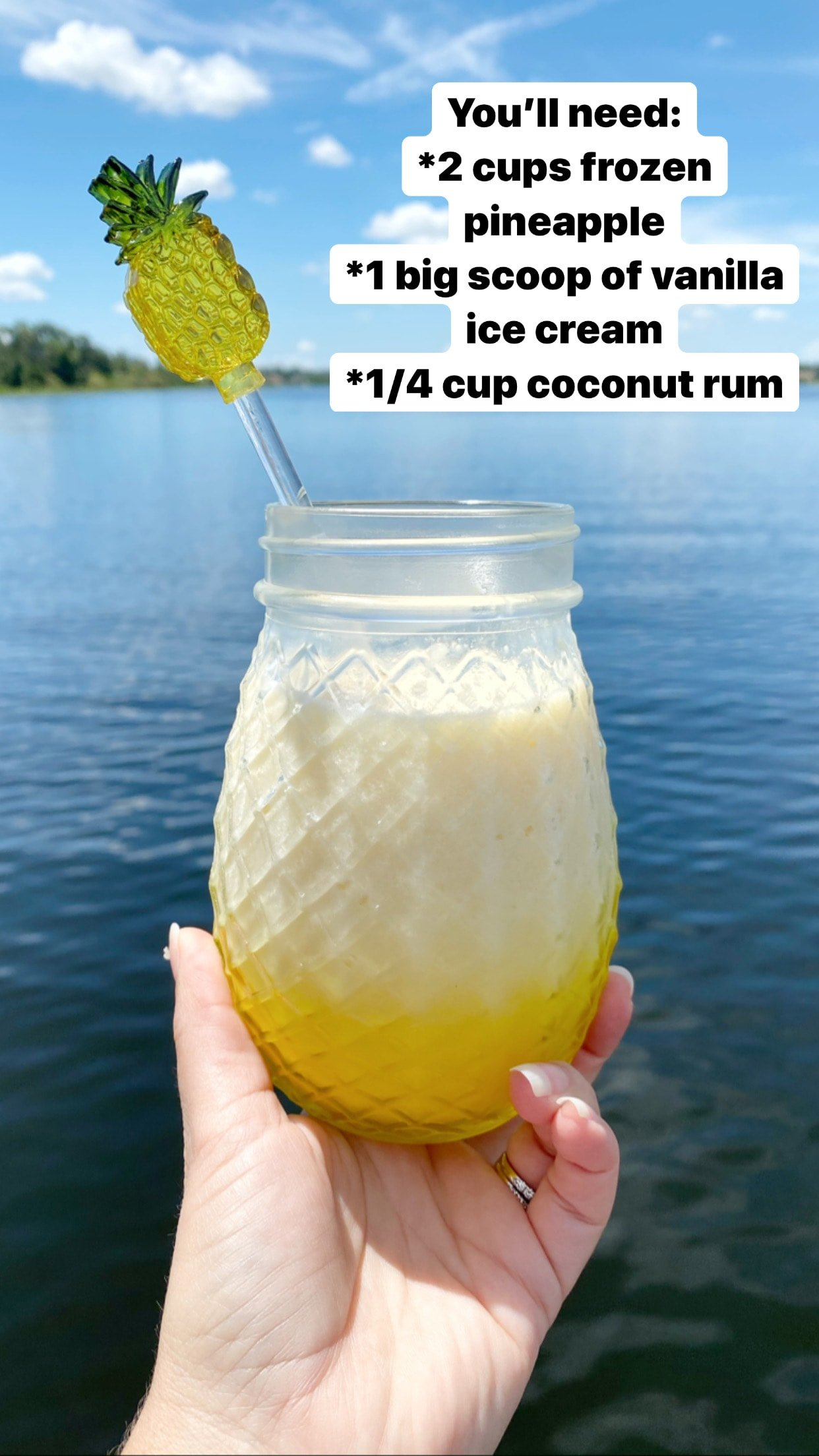 Spiked Dole Whip Recipe with Coconut Rum