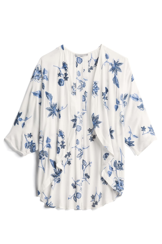 DANIEL RAINN Archie Embroidered Kimono Size: XS $64.00