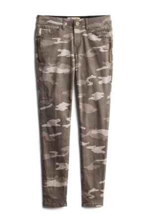 DEMOCRACY Martie Printed Side Zip Detail Skinny Pant Size: 0P $68.00