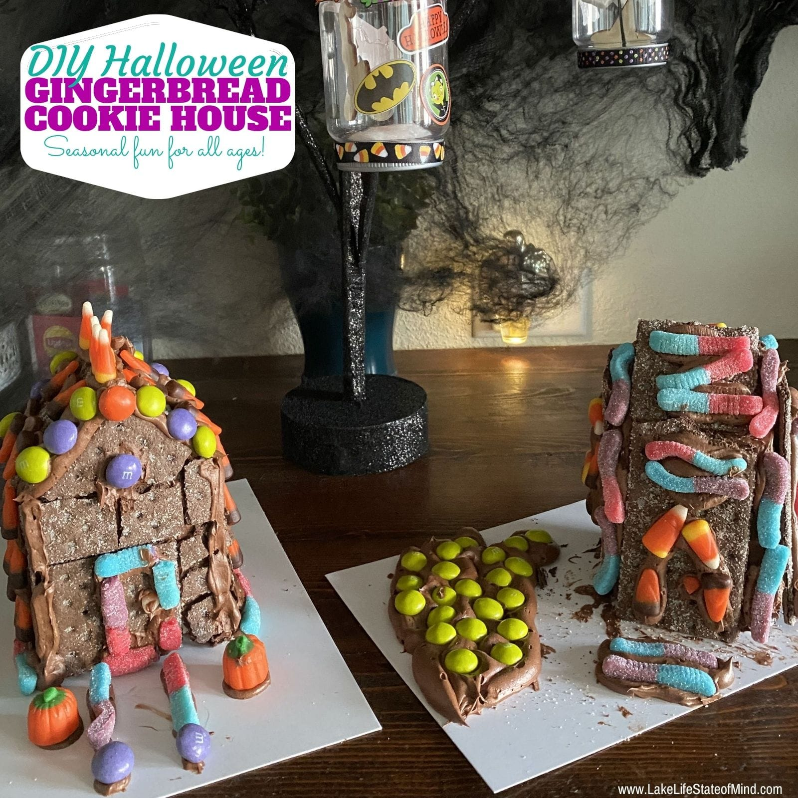 DIY Halloween Gingerbread House