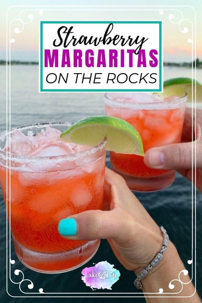 How to Make Easy Strawberry Margaritas on the Rocks