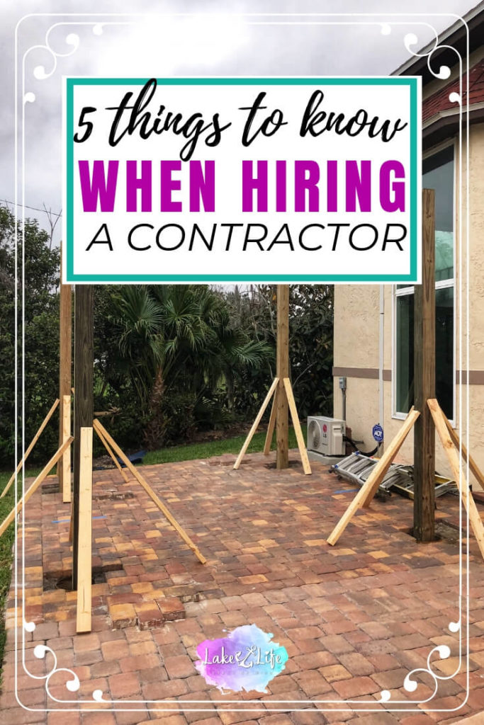 Making home improvements can be an exciting and scary process. Having a vision and then picking the right contractor to create it isn't as easy as it seems. Read my post to find out the five things you must know when hiring a contractor. Don't forget to grab your free interview questions from my free resource library to guarantee a successful experience on your next home improvement project.#homeimprovements #peregolas #contractor #hiringacontractor #lakelifestateofmind