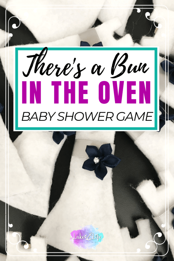 Looking for a unique game to play at your next baby shower or baby sprinkle? This fun and simple game doubles as an accessory that guests can wear during the baby shower. Print the free template from my resource library and get started on creating a unique baby shower game that your guests will never forget! #babyshowergames #babyshower #lakelifestateofmind