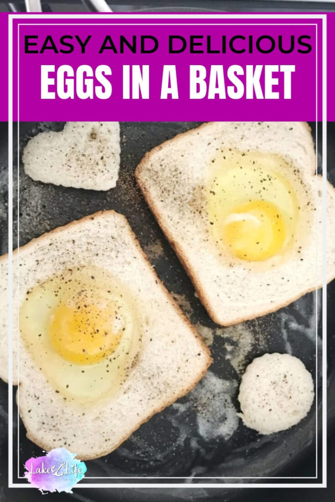 Eggs in a Basket are a fun and easy breakfast dish that can be whipped up in no time. If eggs and toast aren't filling enough, add a side of crispy bacon or fresh cut fruit for your family to enjoy. Be creative and cut different shapes out from the bread for holidays and special days. Grab a cup of coffee and indulge in this easy breakfast today!