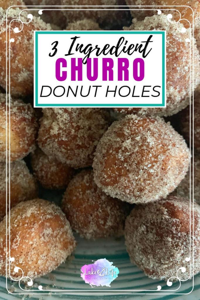 Churro Donut Holes | Churro Bites | How to make churros
