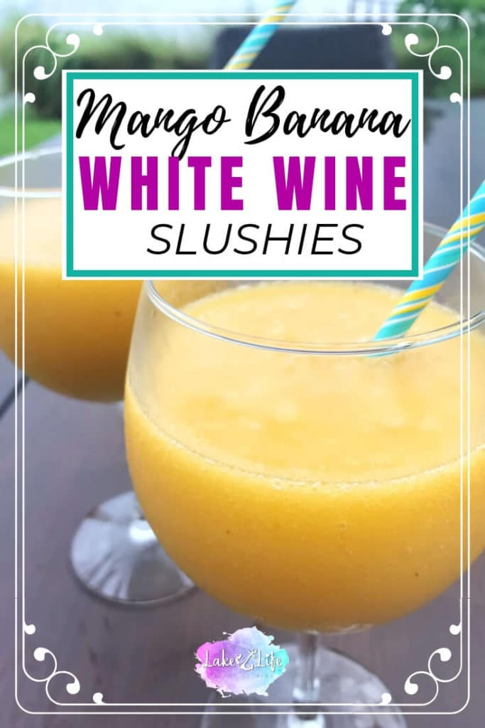 Mango Banana White Wine Slushies are the perfect refreshing cocktails for the warmer days ahead. All you need are frozen mangoes, bananas, and some white wine to make this delicious frozen cocktail. Please do me a favor and treat yourself to a much-deserved wine slushy, ASAP!