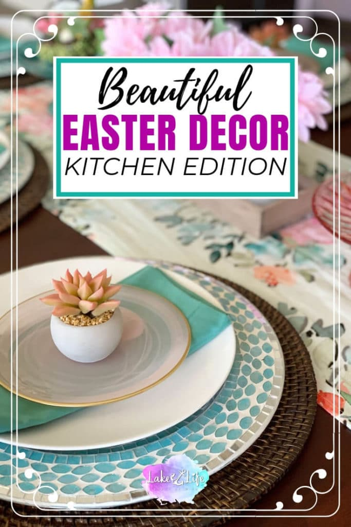 Simple and Beautiful Easter Decor For Your Kitchen | Easter Table Decor | Coffee Bar Decor