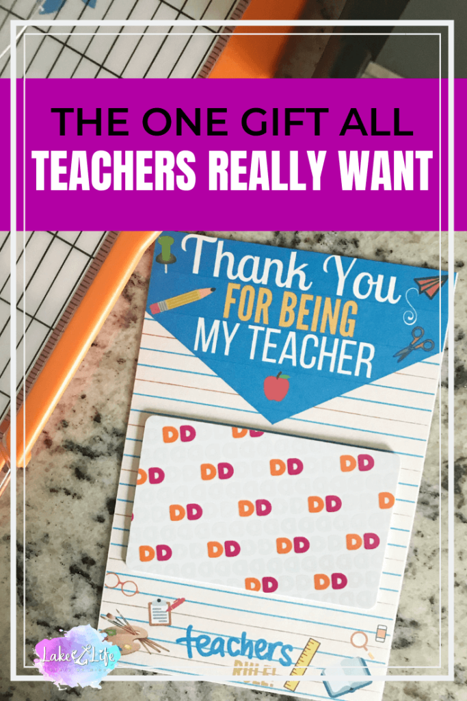 This simple and easy teacher gift idea is the perfect gift for any teacher. Get your favorite teacher what they really want this year! #teachergifts #teachergiftideas #lakelifestateofmind