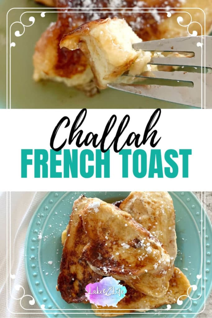 Please tell me you've tried Ina Garten's Challah French Toast Recipe before?! It's seriously The Best Challah French Toast Recipe I've ever had and a must try for Hanukkah breakfast. The Barefoot Contessa takes a traditional french toast recipe and spruces it up with orange zest and a little bit of honey. Come visit me at the lake and see what this recipe is all about.  #challahfrenchtoast #frenchtoast #breakfast #lakelifestateofmind