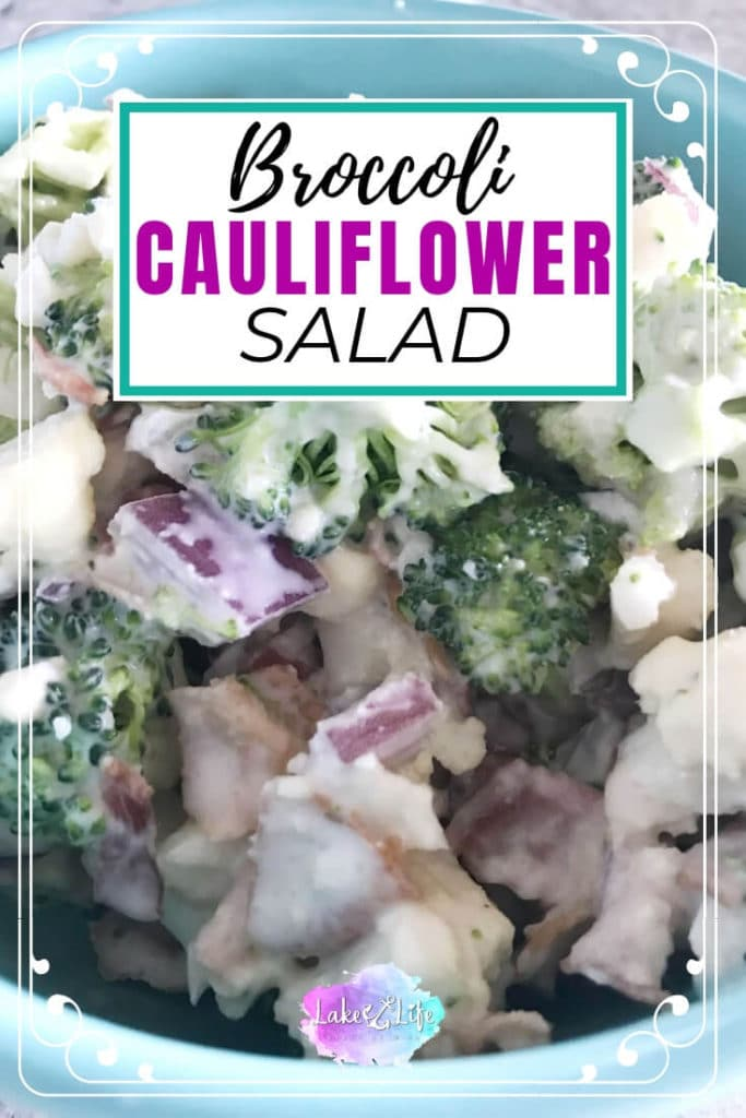Broccoli and Cauliflower Salad | Easy Salad Side Dish Idea
