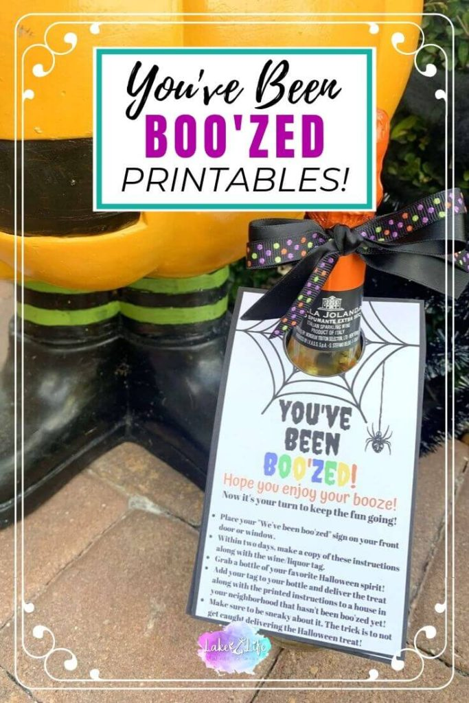 You've Been Boo'zed _ Free Halloween Wine Tag Printables