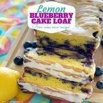 Easy Lemon Blueberry Cake Loaf