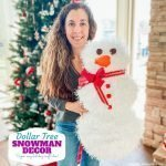 DIY Dollar Tree Snowman