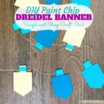 DIY Paint Chip Banner for Hanukkah