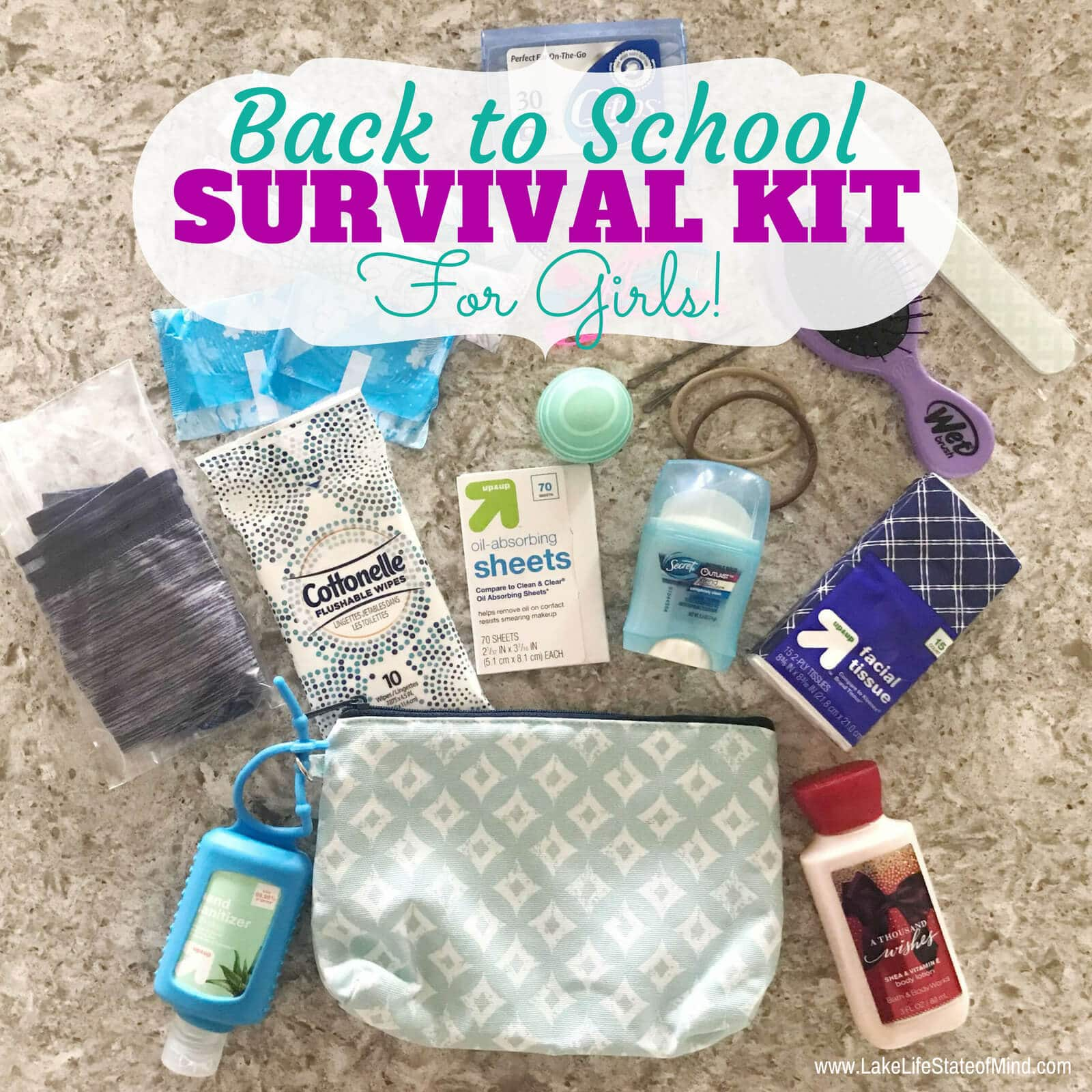 Back to School Survival Kit for Girls