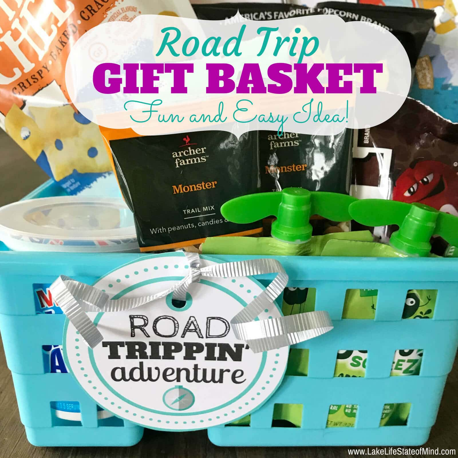 Road Trip Gift Basket Idea
