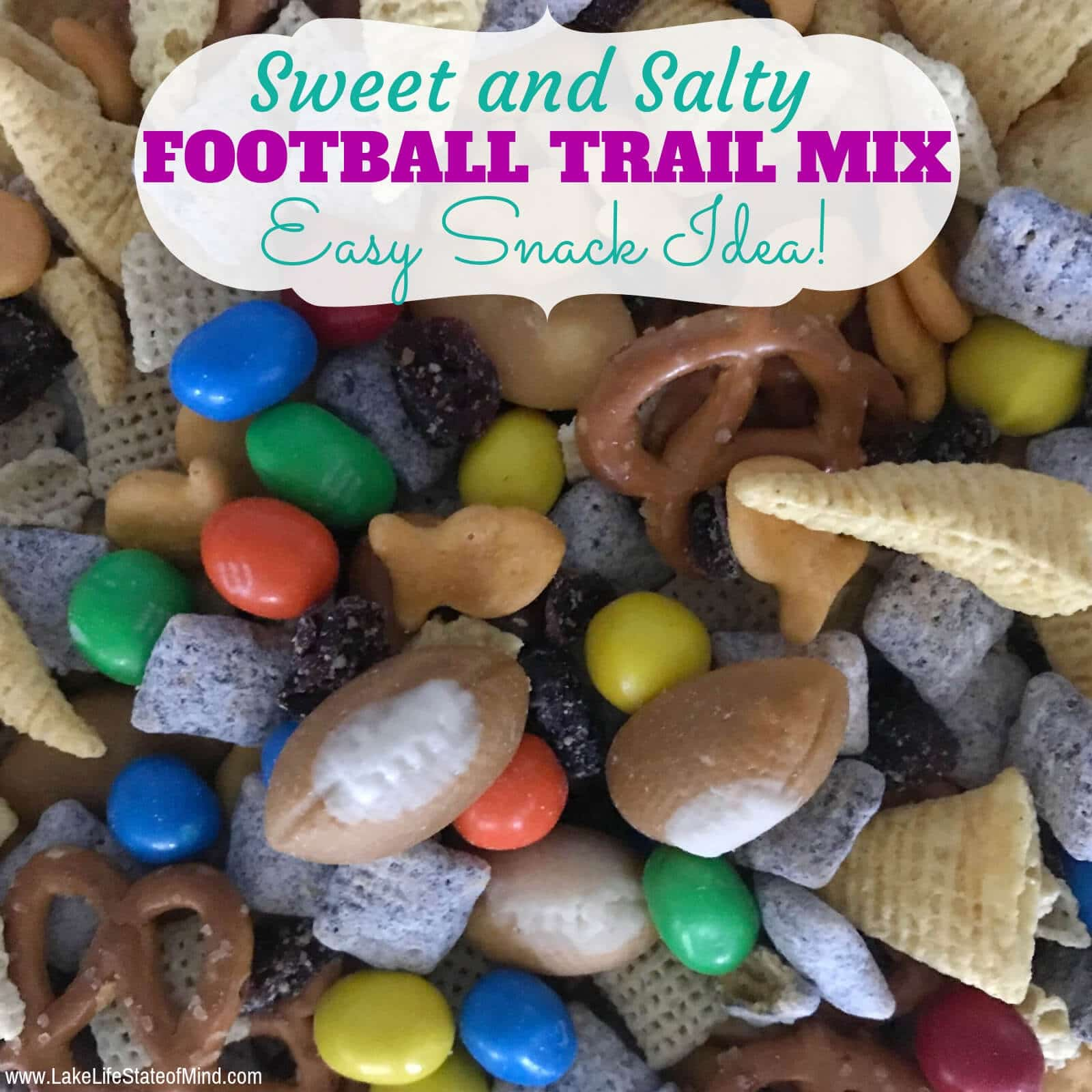 Easy Football Trail Mix