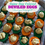 Game Day Colored Deviled Eggs