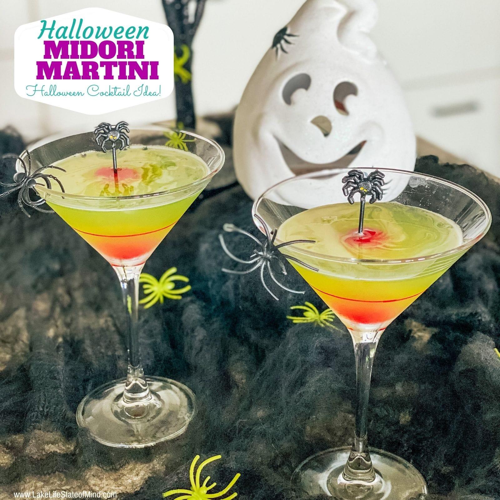 Halloween Midori Martini