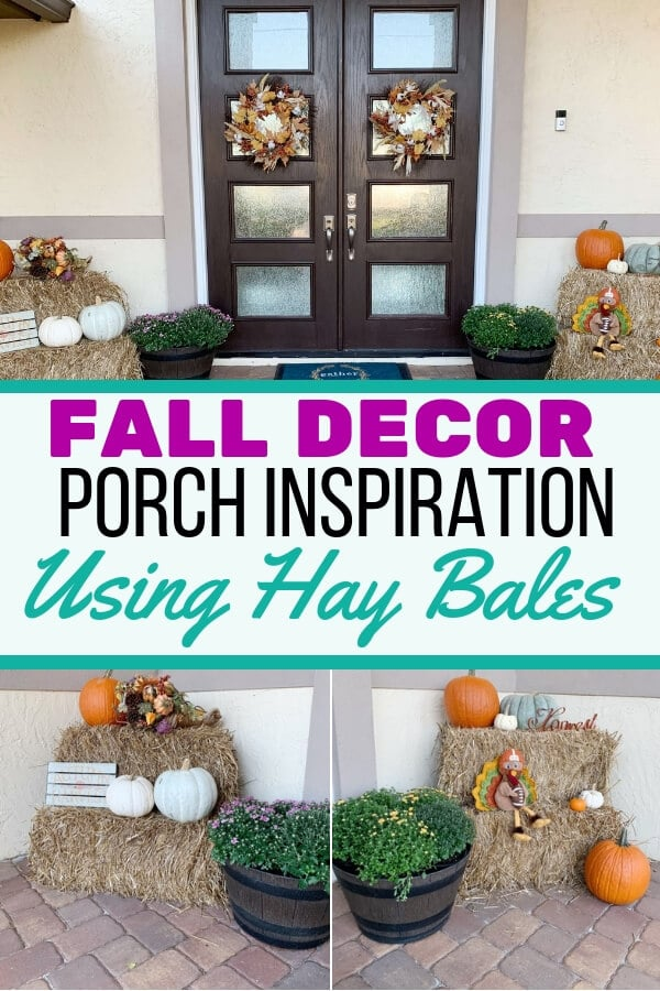 Fall Decorating Idea Using Hay Bales Fall Front Porch Decor