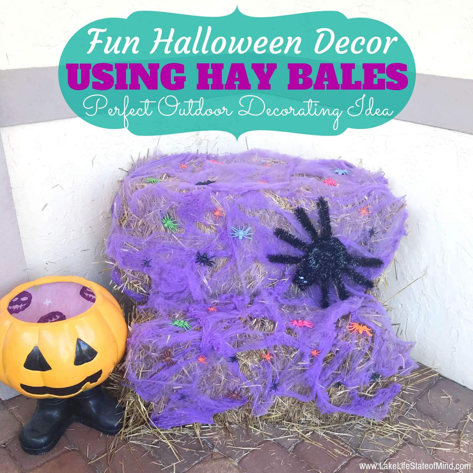 Hay Bale Fall Decorations