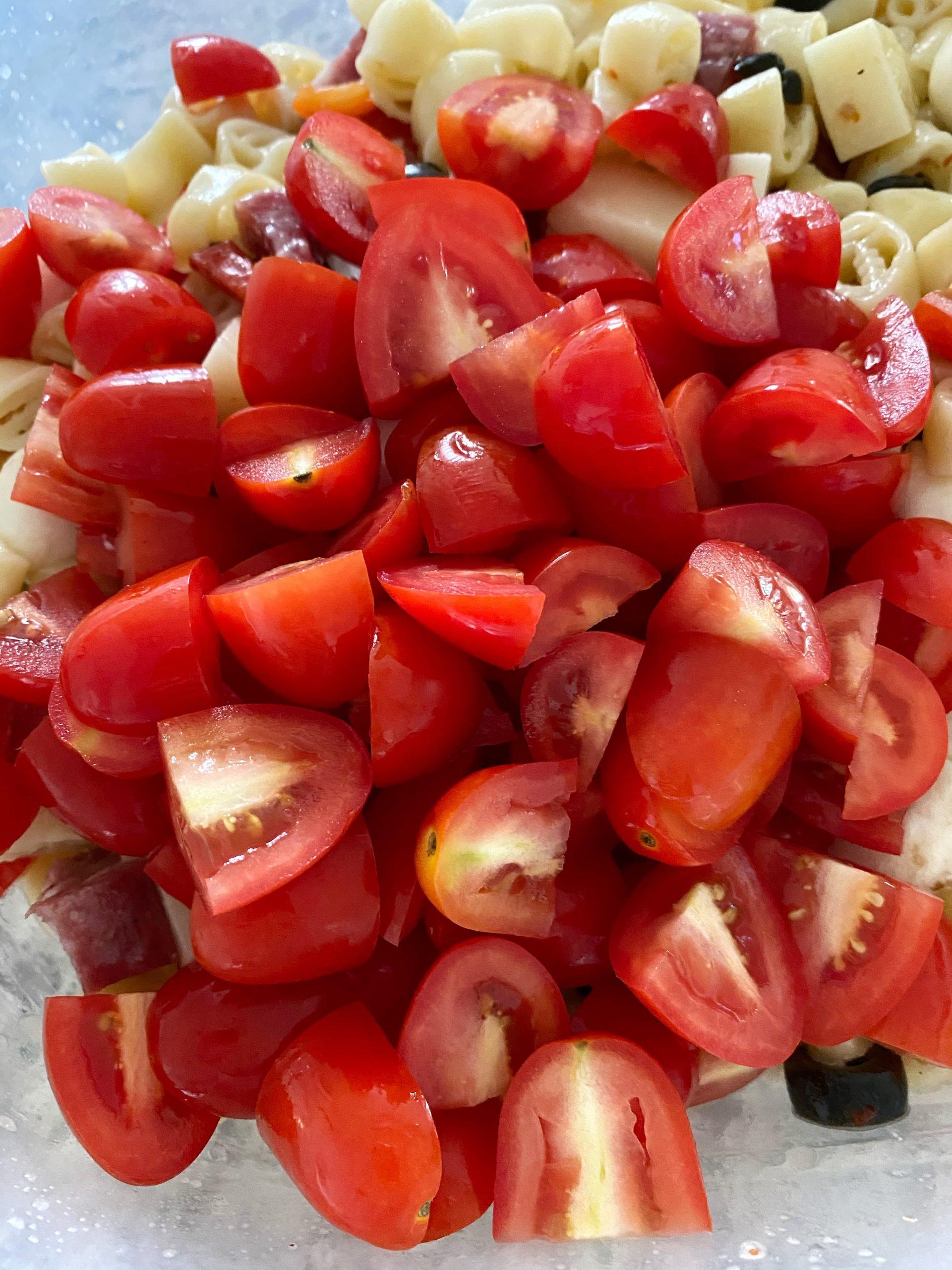 halved cherry tomatoes
