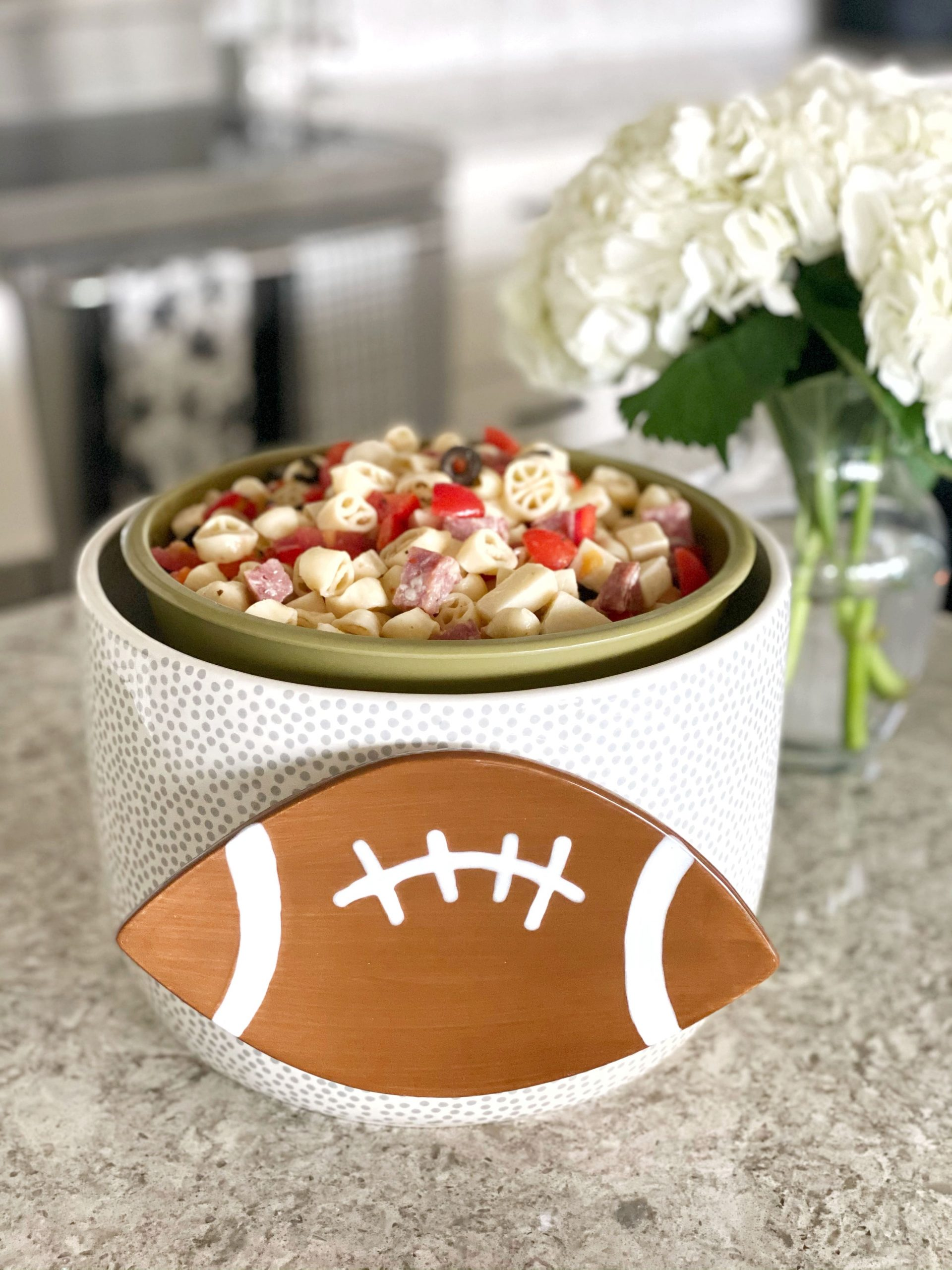 Antipasto Pasta Salad in Happy Everything! large bowl