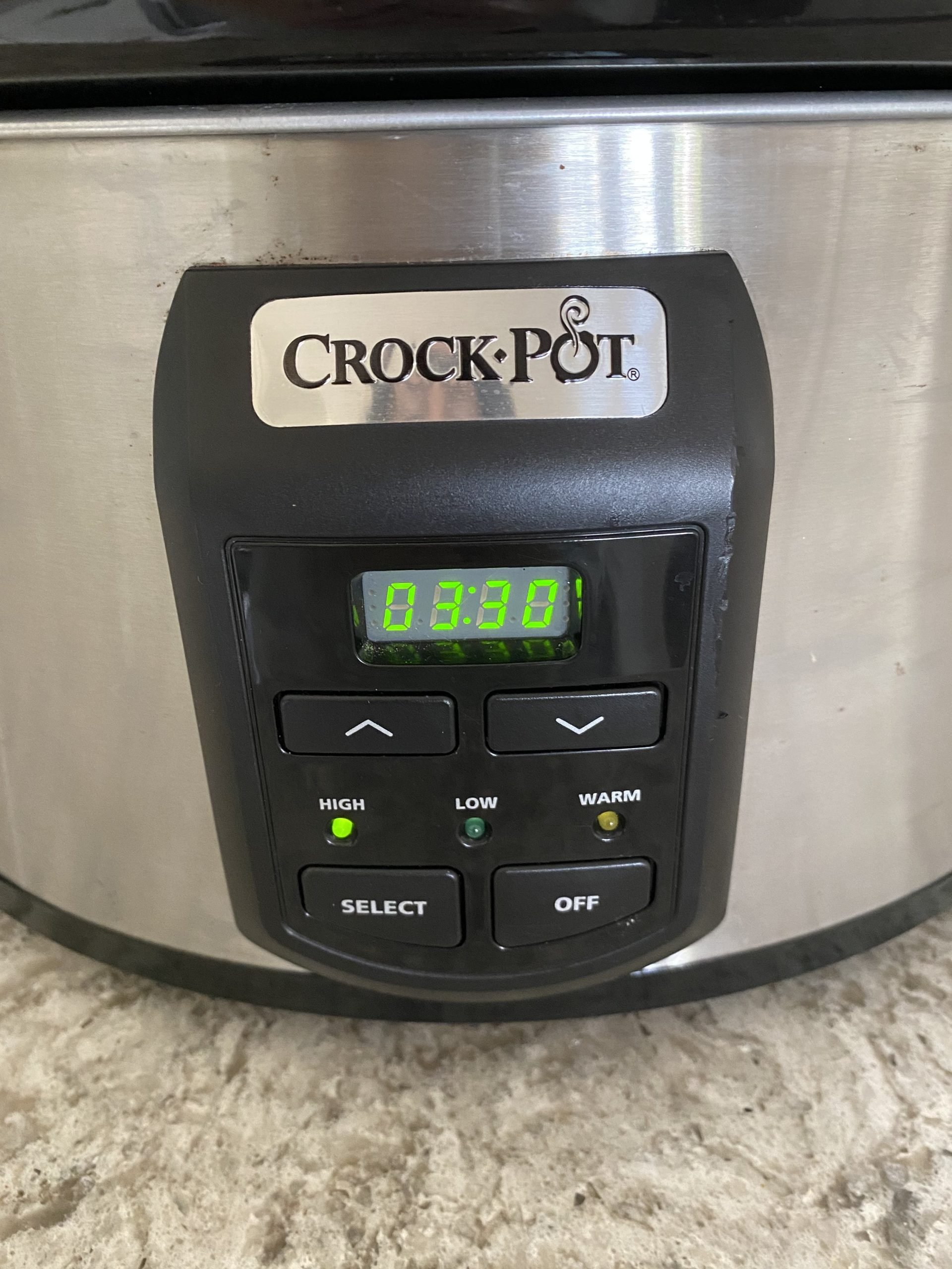 crockpot set on high